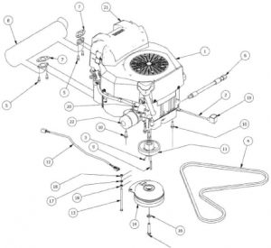Kohler 747cc Engine Assembly